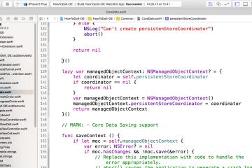 Aufbau des CoreDataStack