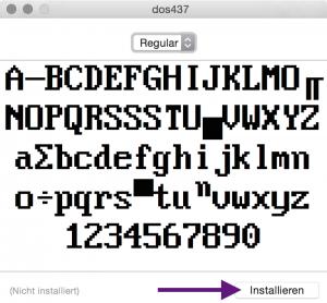 Installation des DOS Font