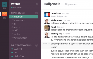 Swift iOS Slack Chat